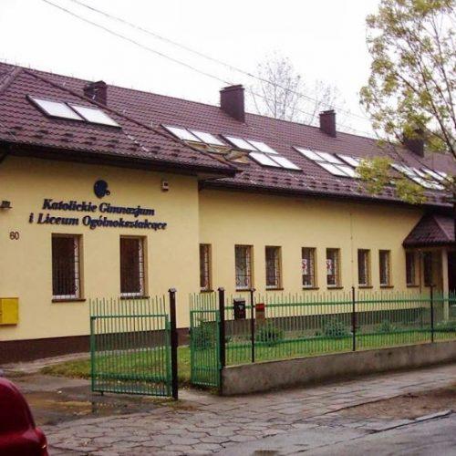 Zdjęcie budynku Szkoły Katolickiej w Zawierciu